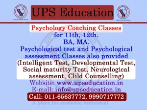 Delhi Coaching  Classes For Psychology- UPS Education
