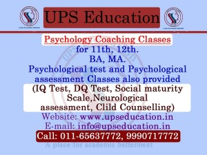 Psychology Coaching in New Delhi - UPS Education