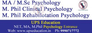 Ma Psychology, M.Phil Psychology Admission
