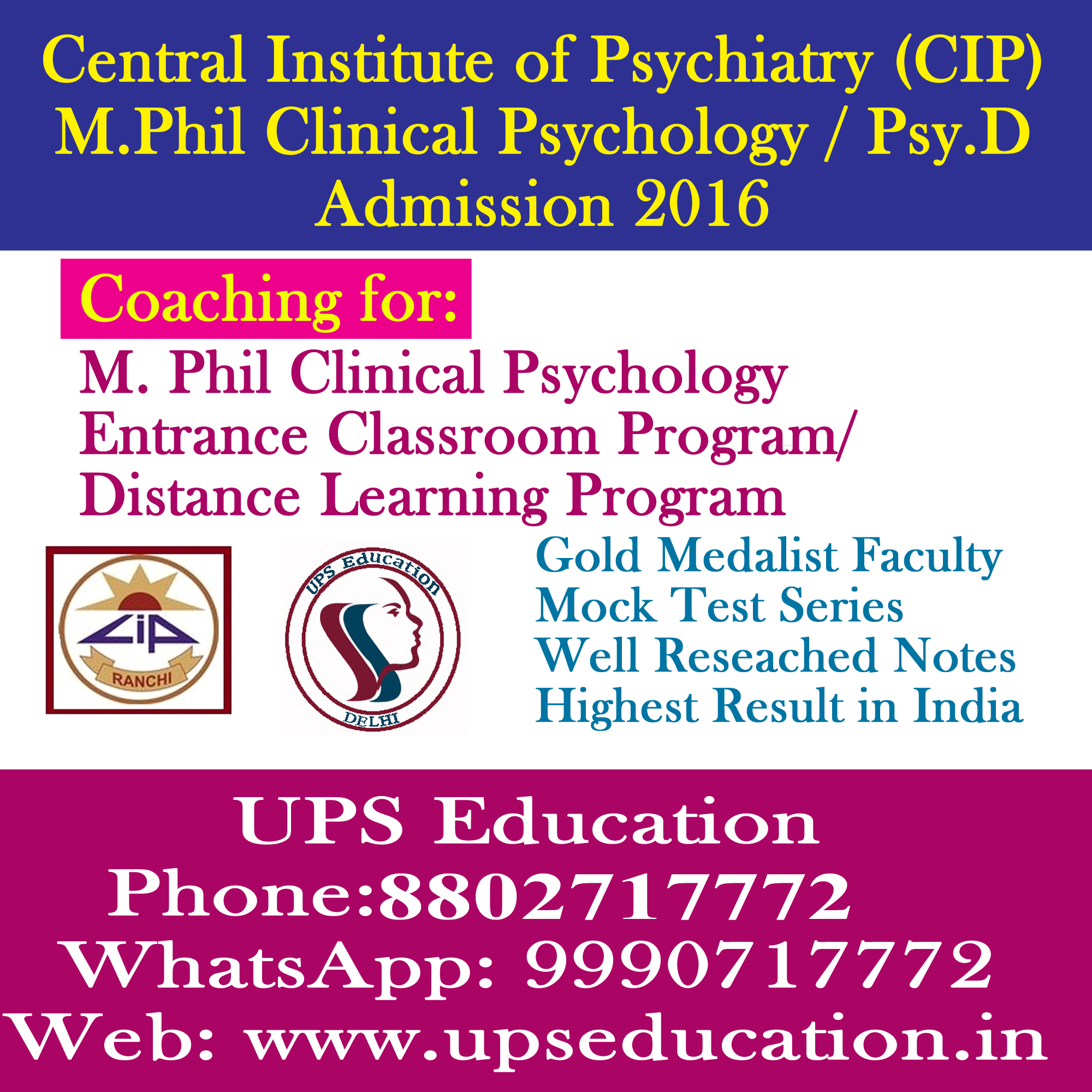 Is Distance Masters Degree in psychology from IGNOU accredited and eligible for PHd in USA?