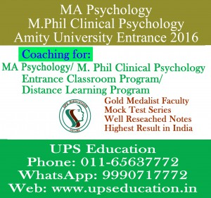 Amity university-mphil clinical psychology