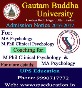Admission Start for MA & M.Phil Psychology