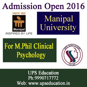 Admission Started for M.Phil Clinical Psychology