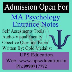 Admission Open for MA Psychology Entrance Notes