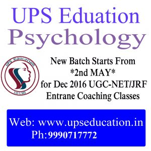 UGC-NET/JRF Psychology Entrance Coaching Classes