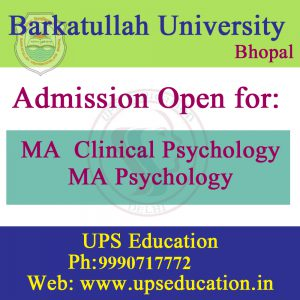 MA Psychology Admission Open