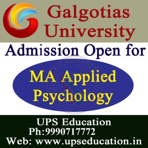 Admission Open for MA Applied Psychology