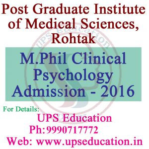Admission in M.Phil Clinical Psychology