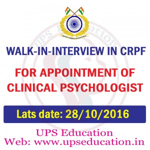Walk in Interview for Psychologist