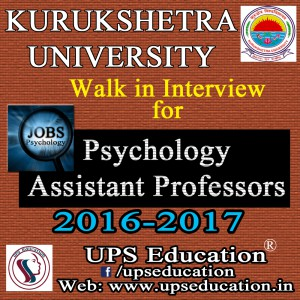 Psychology Jobs in India - UPS Education