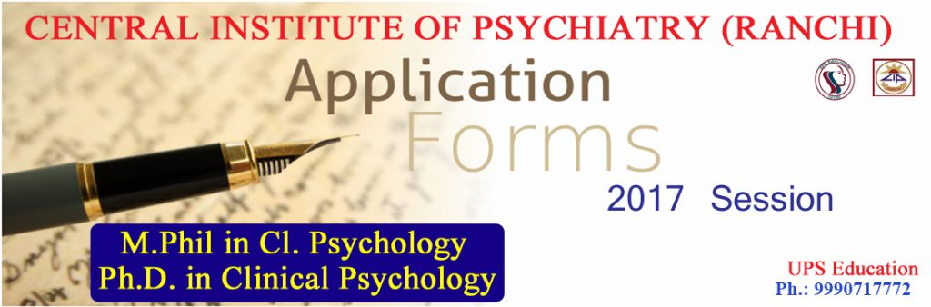 Admission Open for M.Phil Clinical Psychology in CIP