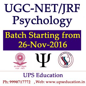 New Batch for NET Psychology