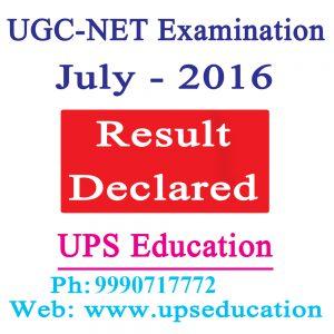 July 2016 NET JRF Result Declared