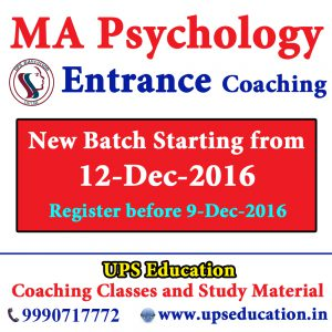 MA Psychology Entrance Coaching