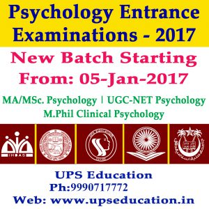 New Batch for Psychology Entrance Examination