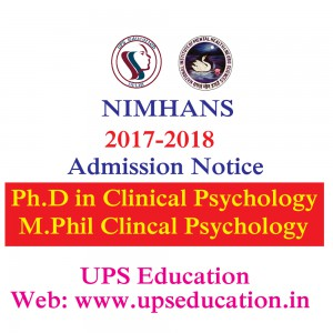 NIMHANS Application forms are out