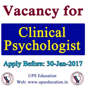 Clinical Psychologist Vacancy