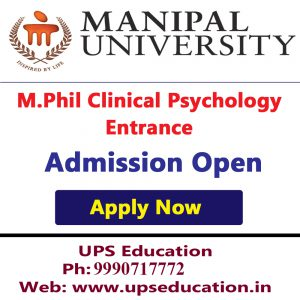 Admission Open for M.Phil clinical Psychology