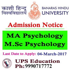 MA Psychology/M.Sc Psychology Admission