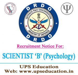 vacancy in DRDO-for psychology Students