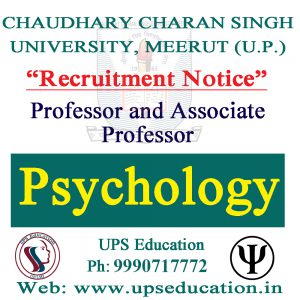 vacancy for Psychology Professor and Associate Professor