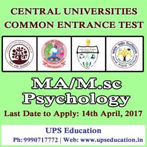 MA/M.Sc Psychology Entrance 2017-18