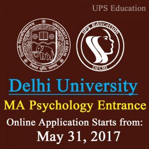 MA Psychology Entrance 2017 DU