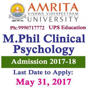 M.Phil Clinical Psychology Admission