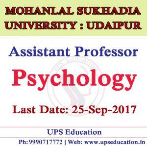 Assistant Professor Psychology