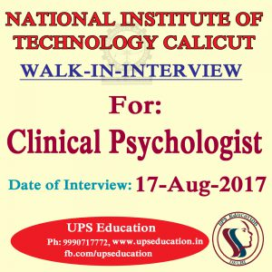 Vacancy for Clinical Psychologist