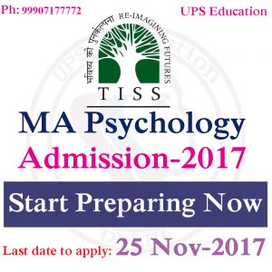 TISS MA Psychology Admission - 2018