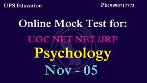 Mock Test For UGC NET JRF Psychology