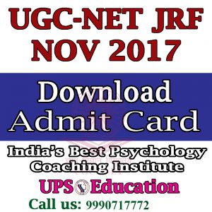 UCG NET JRF NOV - 2017