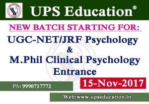 M.Phil Clinical Psychology and NET JRF Psychology