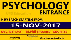New Batch for Psychology Entrance Coaching