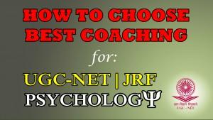 UGC NET JRF Psychology Coaching