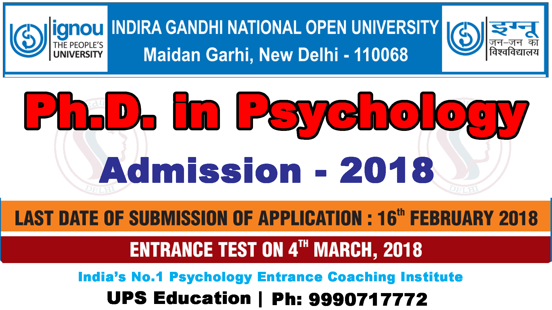 Phd Psychology Ignou Admission 2018  Ups Education. Tax Deduction For Donating A Car. Life Insurance In Nigeria Nyu Phd Psychology. Global Merchant Processing Lawyer Columbus Oh. Illinois Technical Colleges Oracle Dba Cbt. Real Estate Marketing Report. Unsecured Bad Credit Business Loans. U S Criminal Justice System Dr Hardy Dentist. Free Business Listings Sites